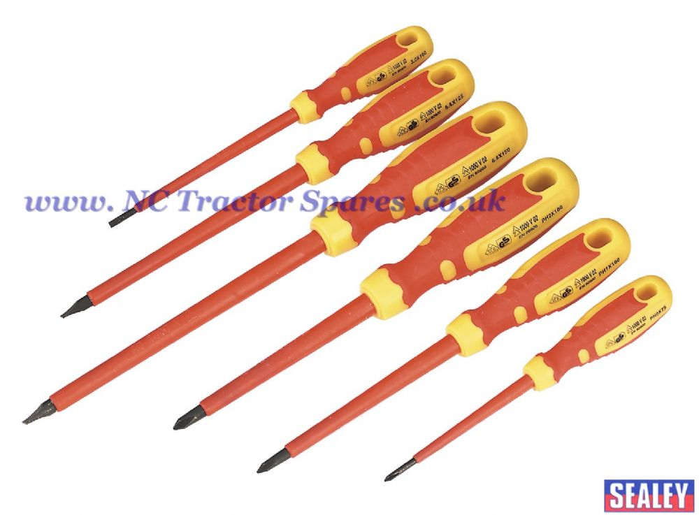 Screwdriver Set 6pc VDE/TUV/GS Approved GripMAX